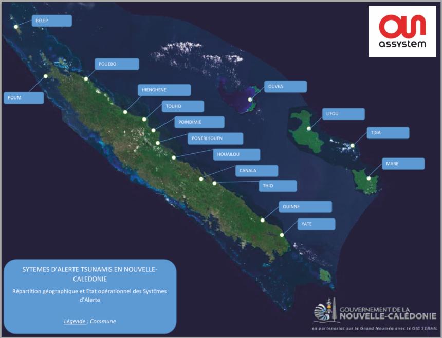 La primera sirena de alerta de tsunami en la isla de LIFOU, Nueva Caledonia, después de un mantenimiento básico en 2015