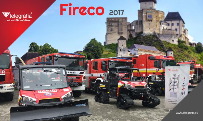 Telegrafia asiste a la 13ª feria internacional de Fireco 2017 en la ciudad de Trencin, Eslovaquia