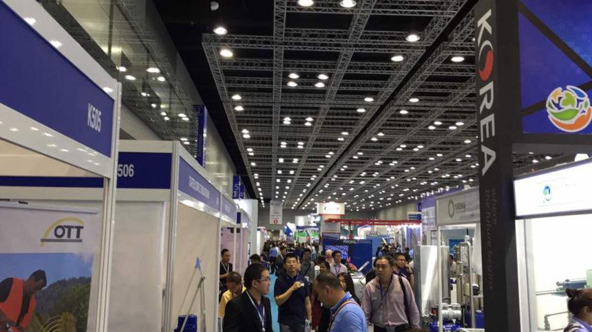Sirena electrónica Gibon de 600W en la 10ª edición de ASIAWATER en Kuala Lumpur, Malasia