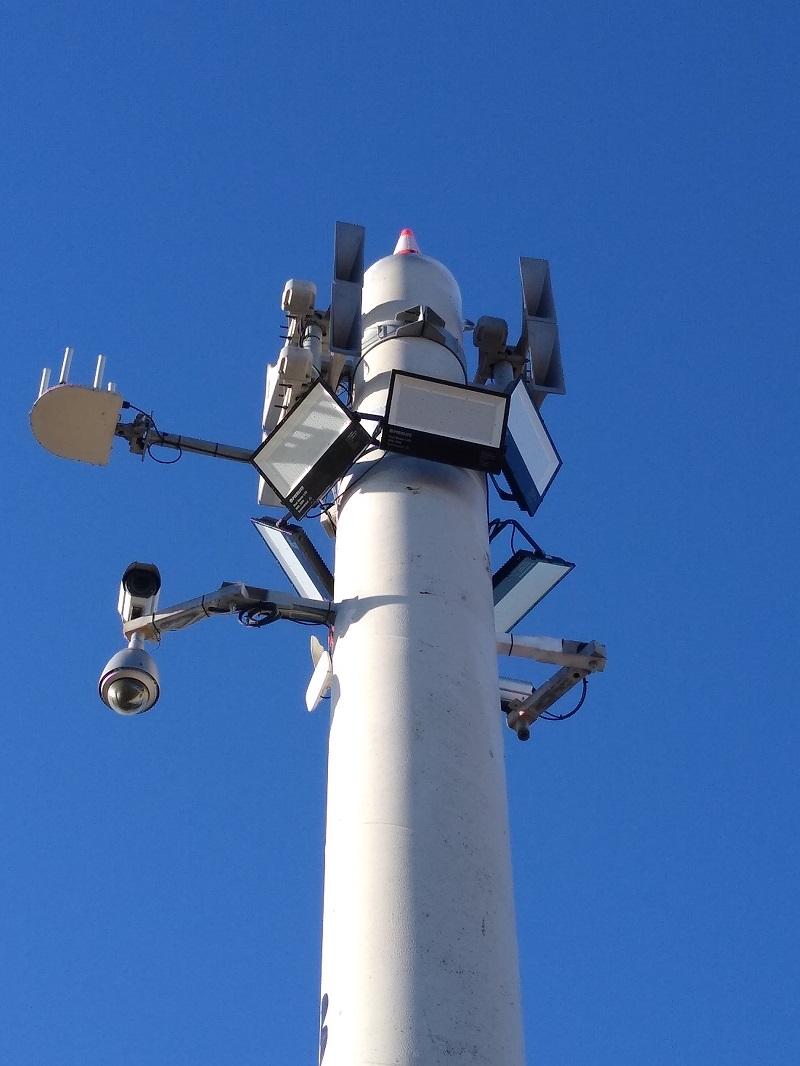 Sistema de megafonía y alerta