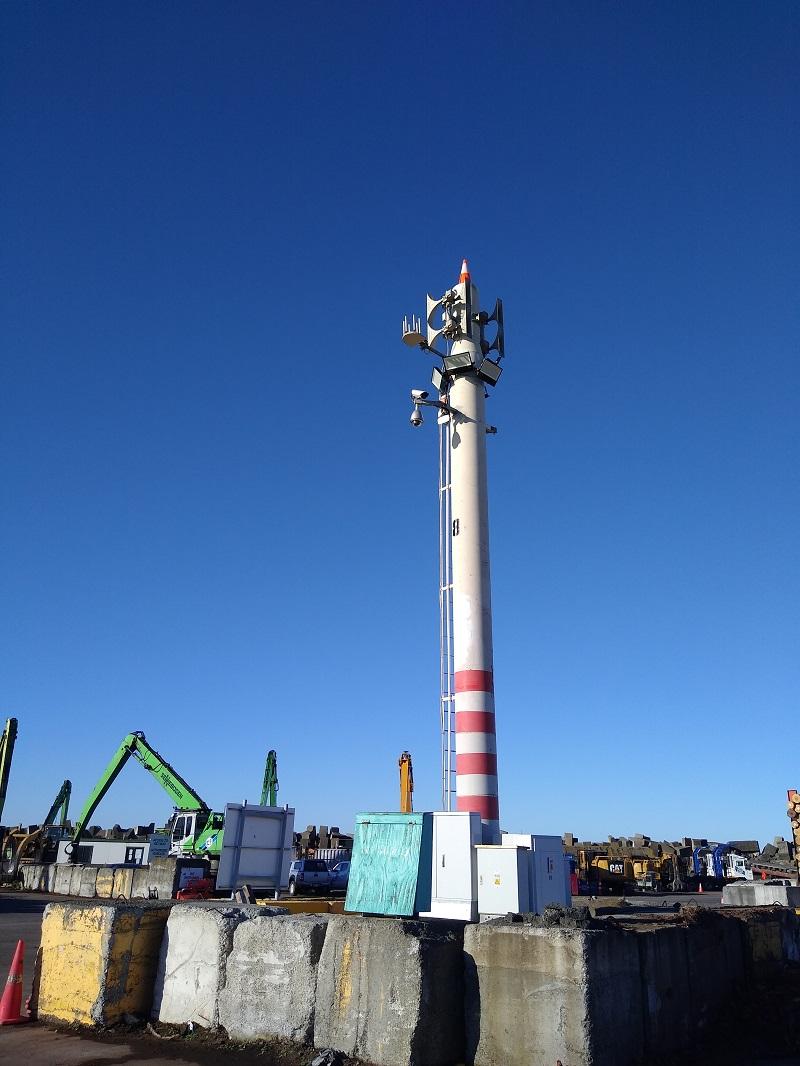 Sistema de megafonía y alerta en el Puerto de Napier