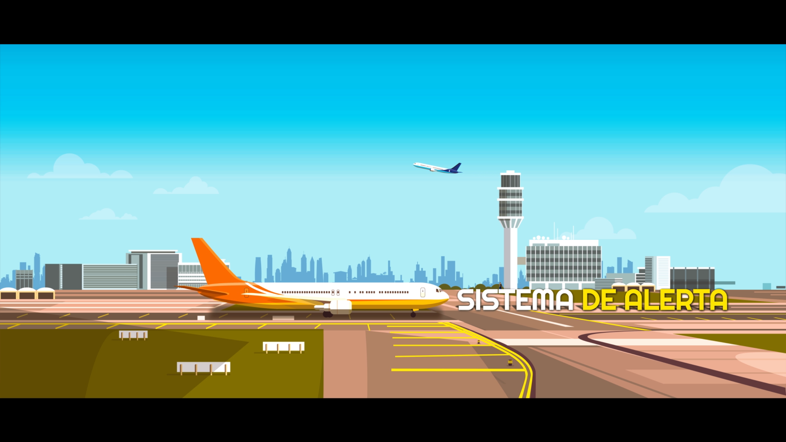 Sistema de alerta masiva para aeropuertos